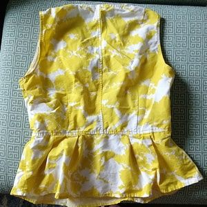 GAP Tops - Yellow peplum top